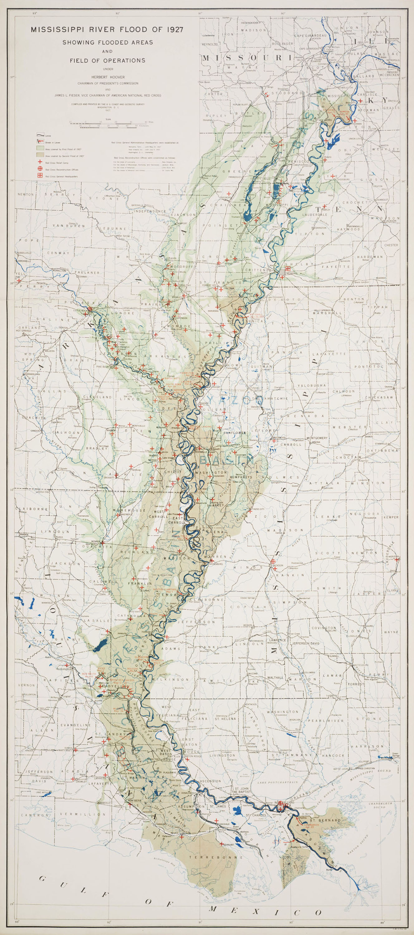 Map Of America Mississippi River.Mississippi River Flood By Ngs 429ca Atlas Of Places