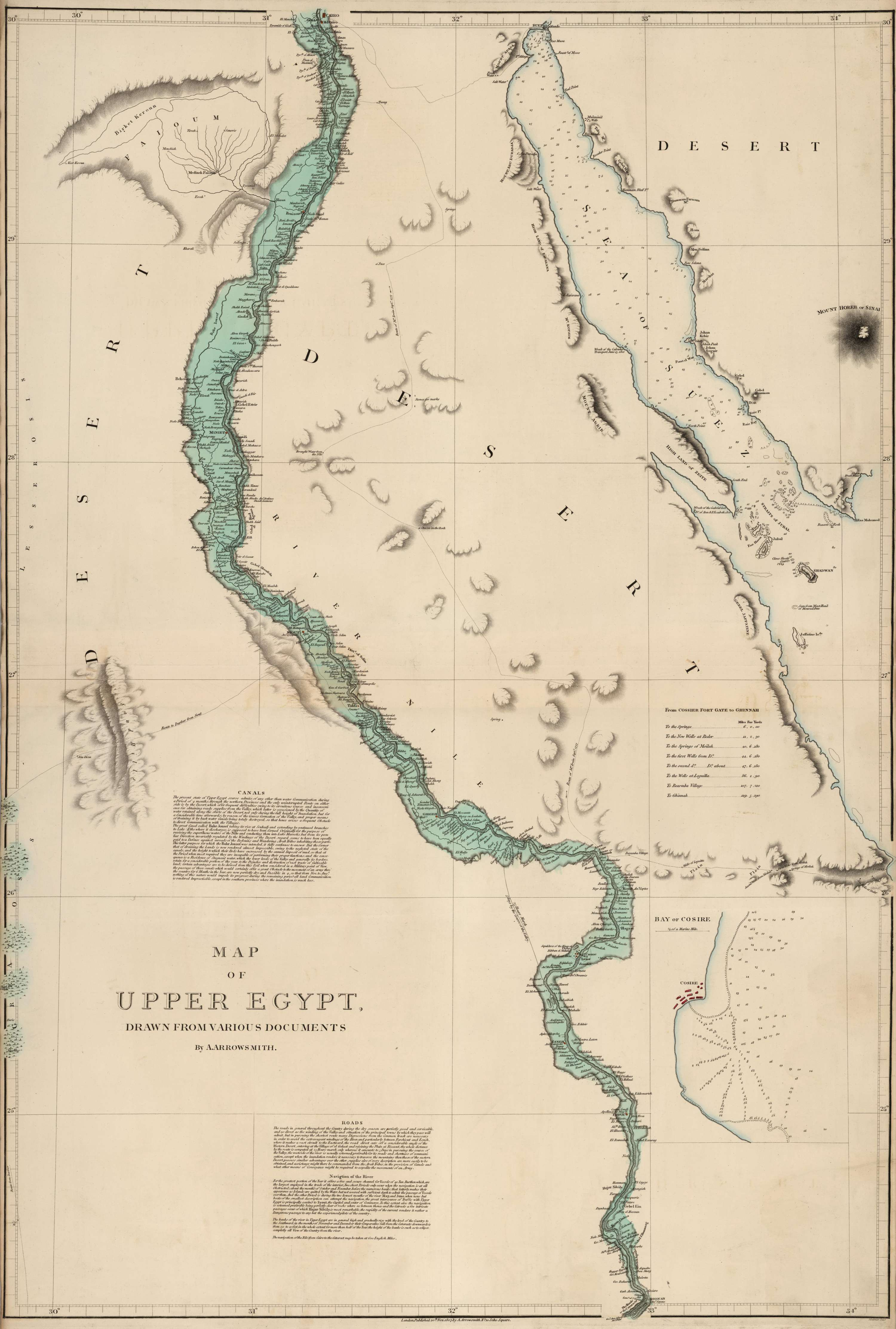 Map of Upper & Lower Egypt