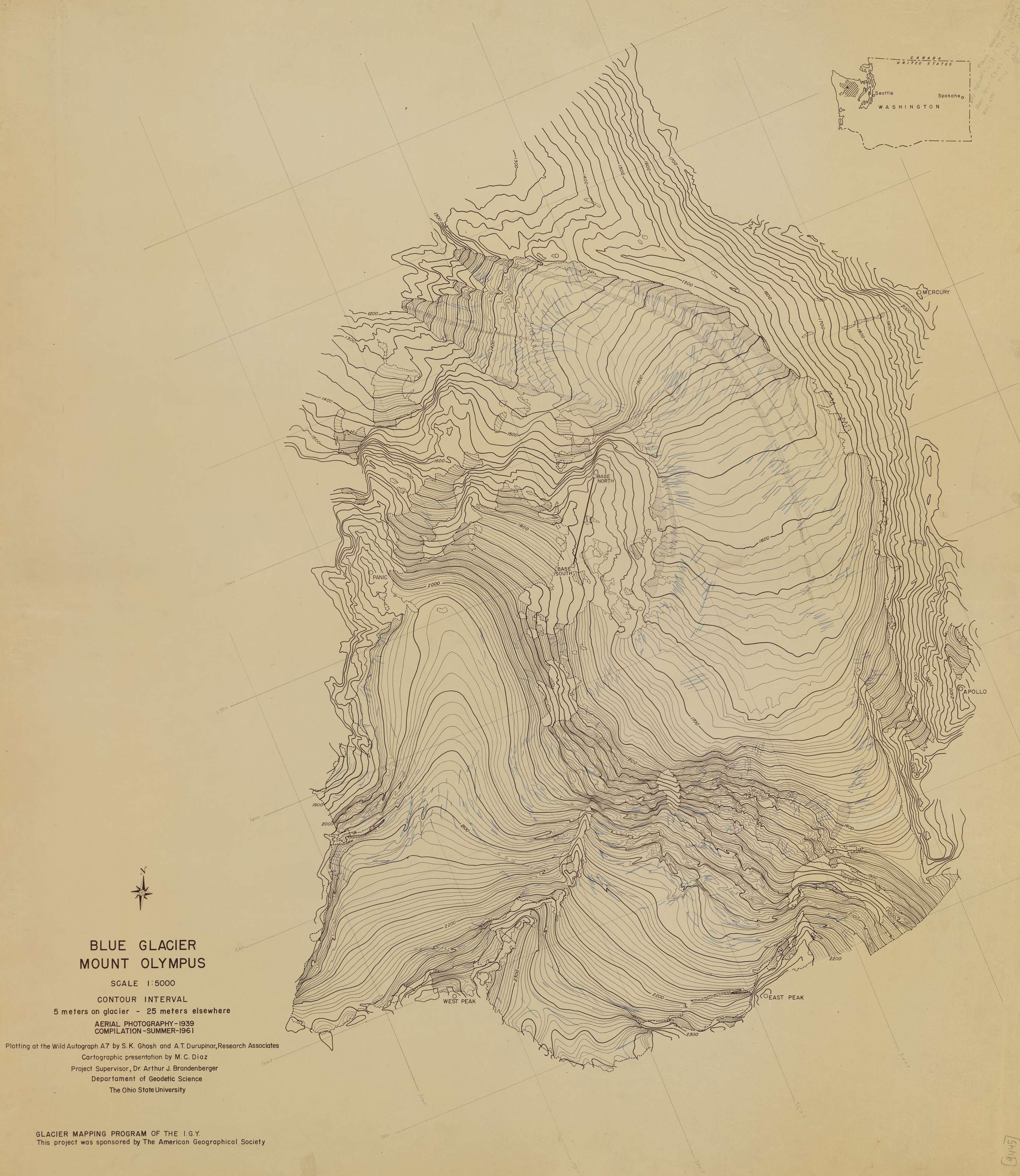Blue Glacier Mount Olympus