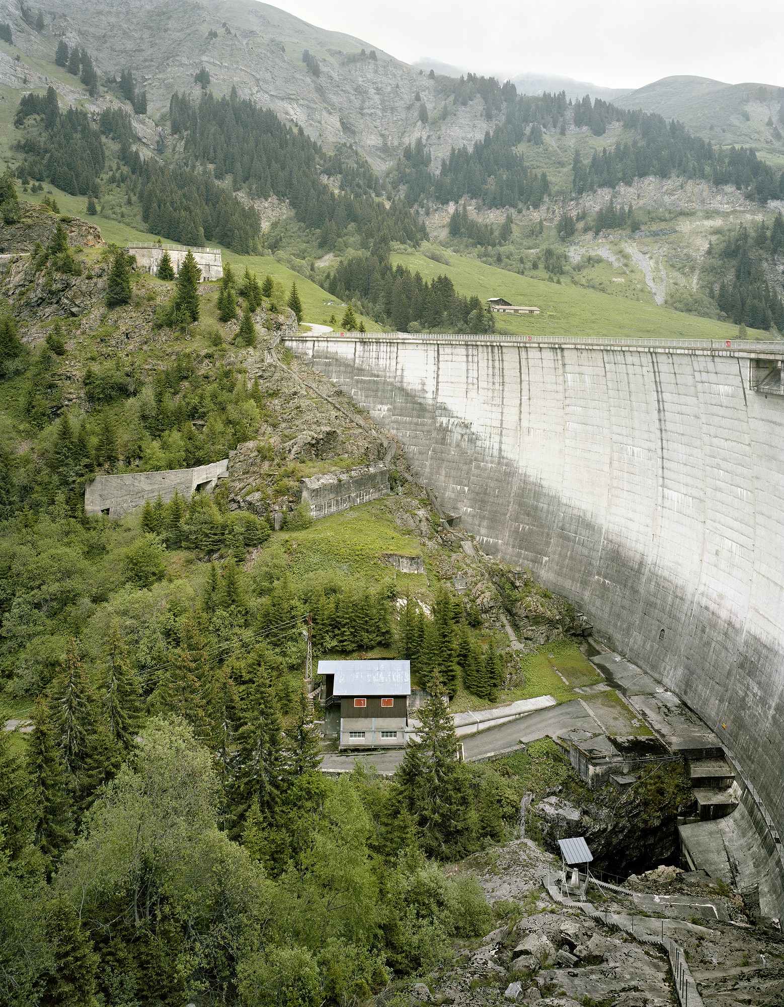 Dam and Man in Savoy