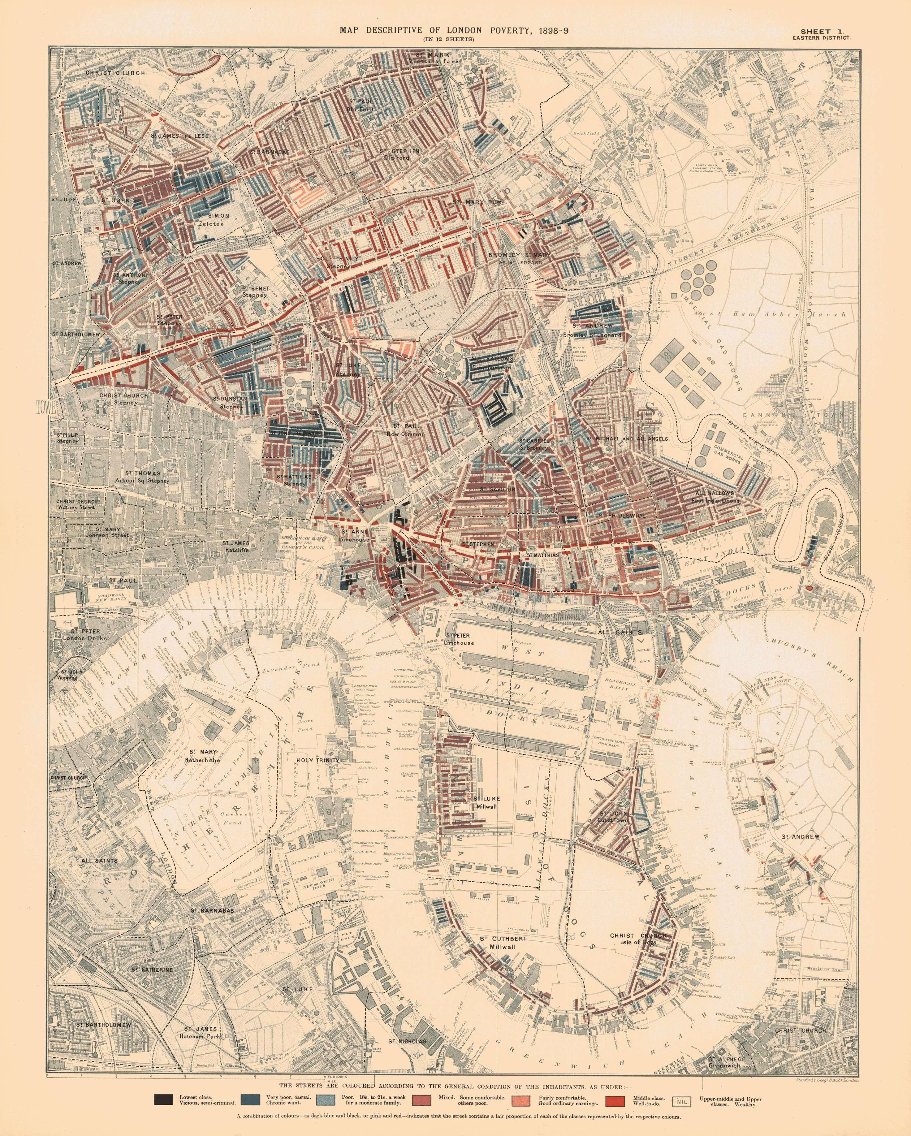 Descriptive map of London poverty