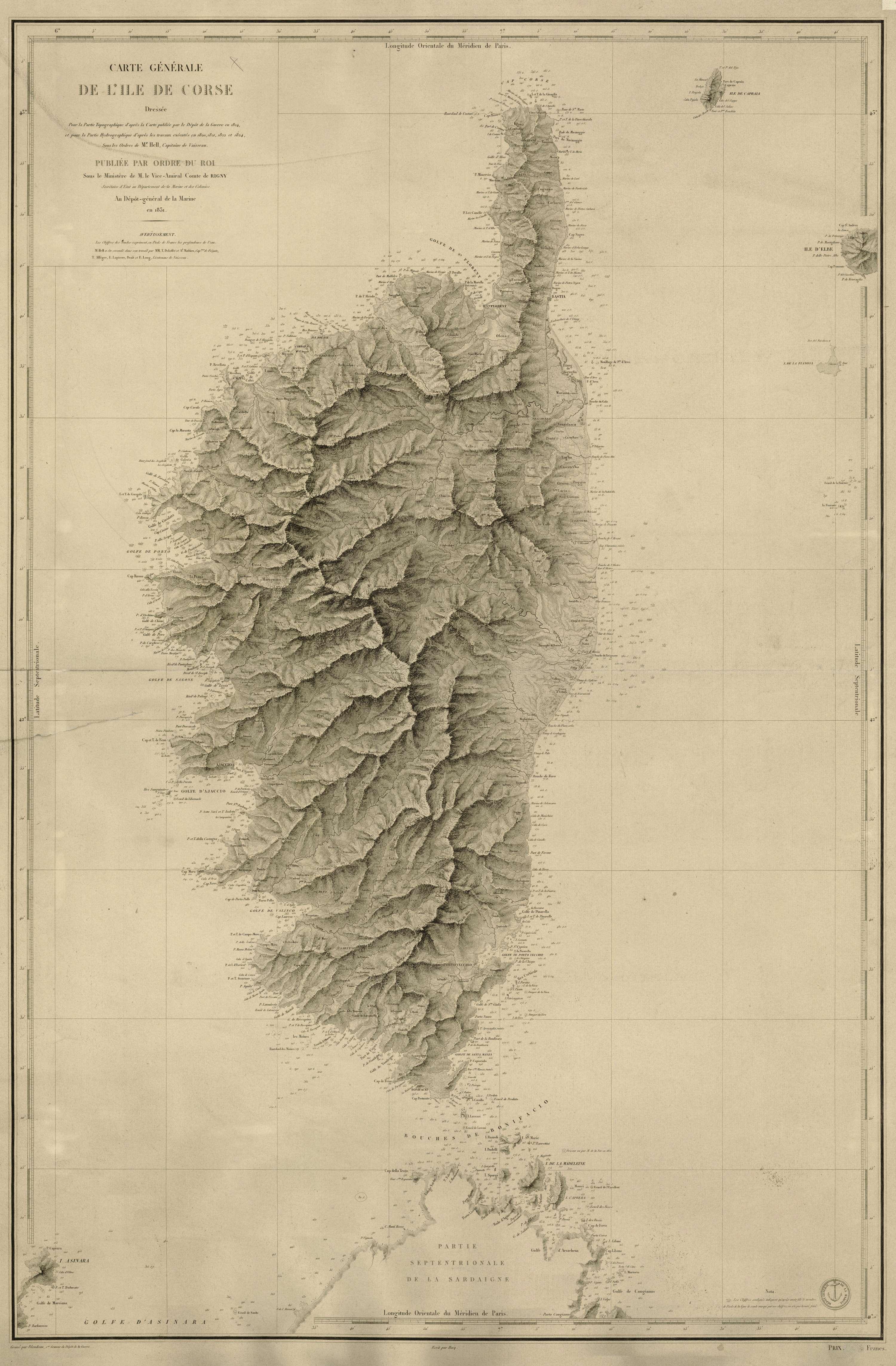 Carte Générale de l'Ile de Corse
