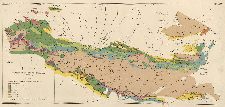 Esquisse géologique des Pyrénées