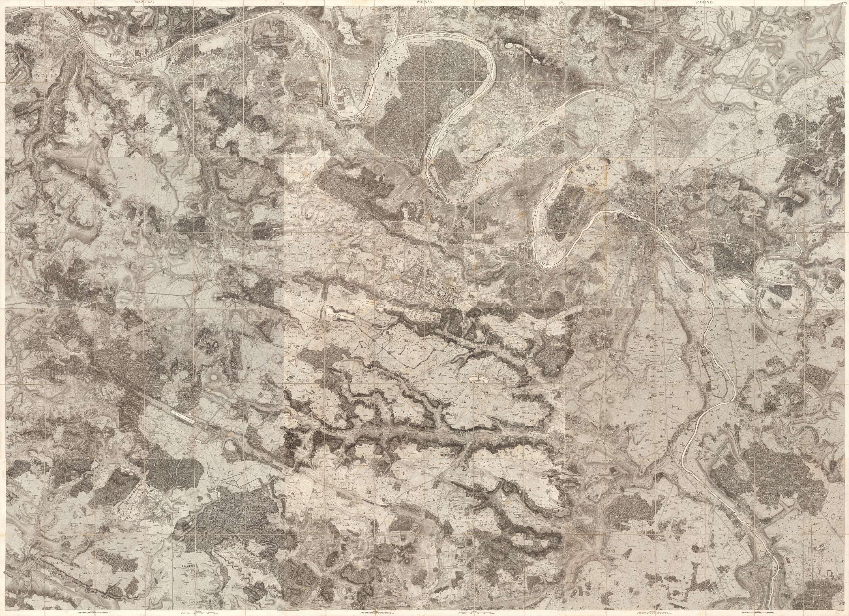 Carte topographique de Versailles