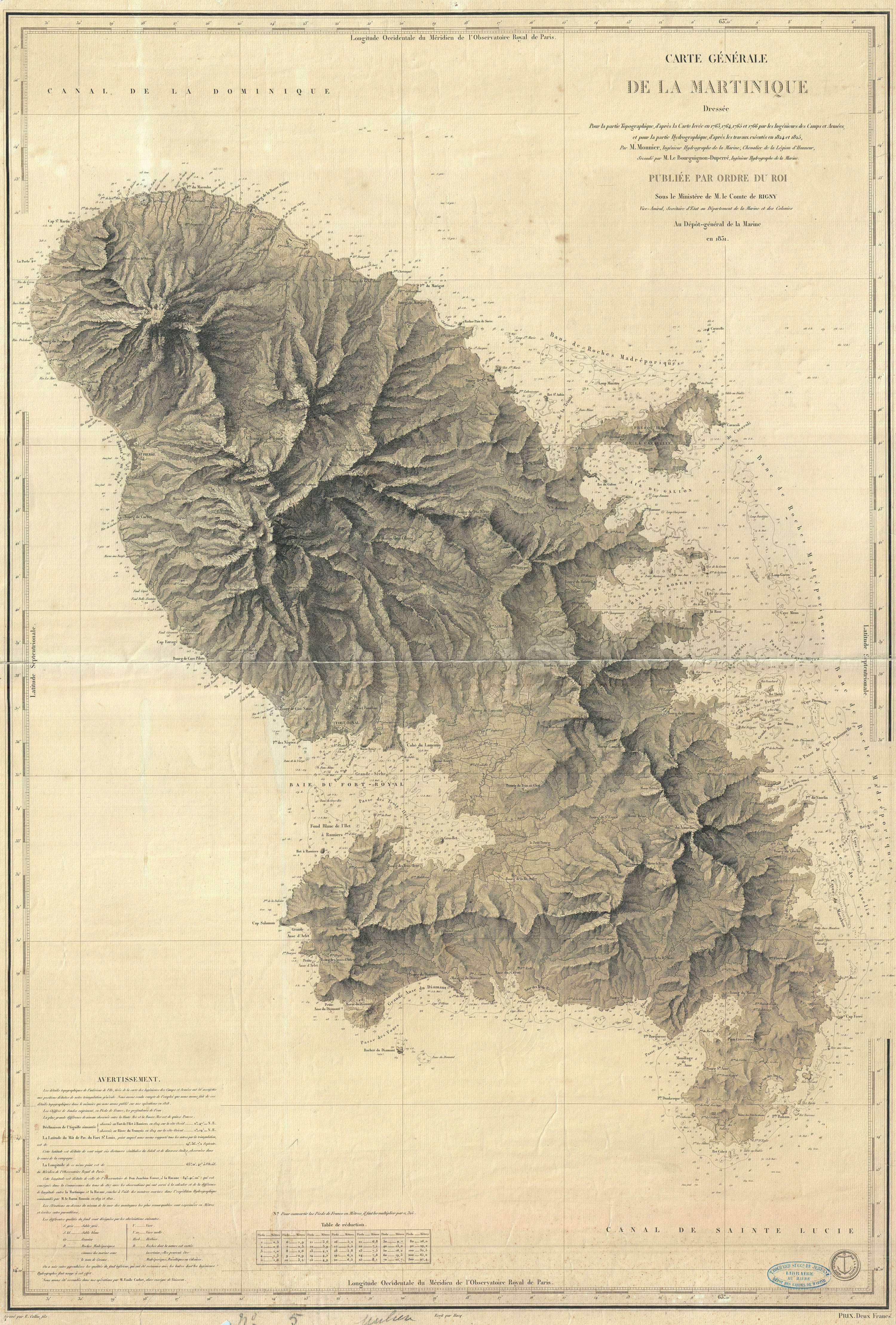 Carte Générale de la Martinique