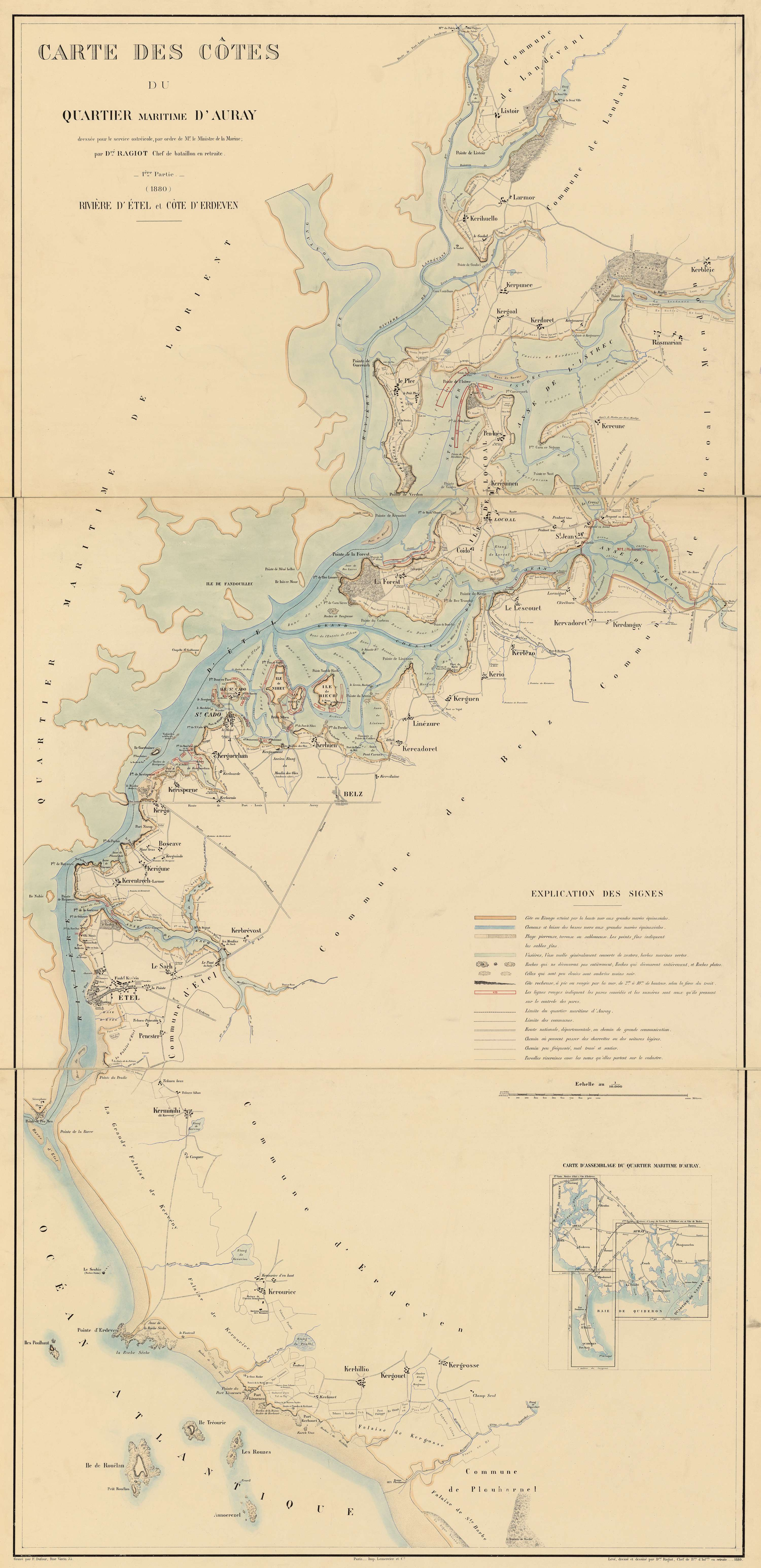 Carte des côtes