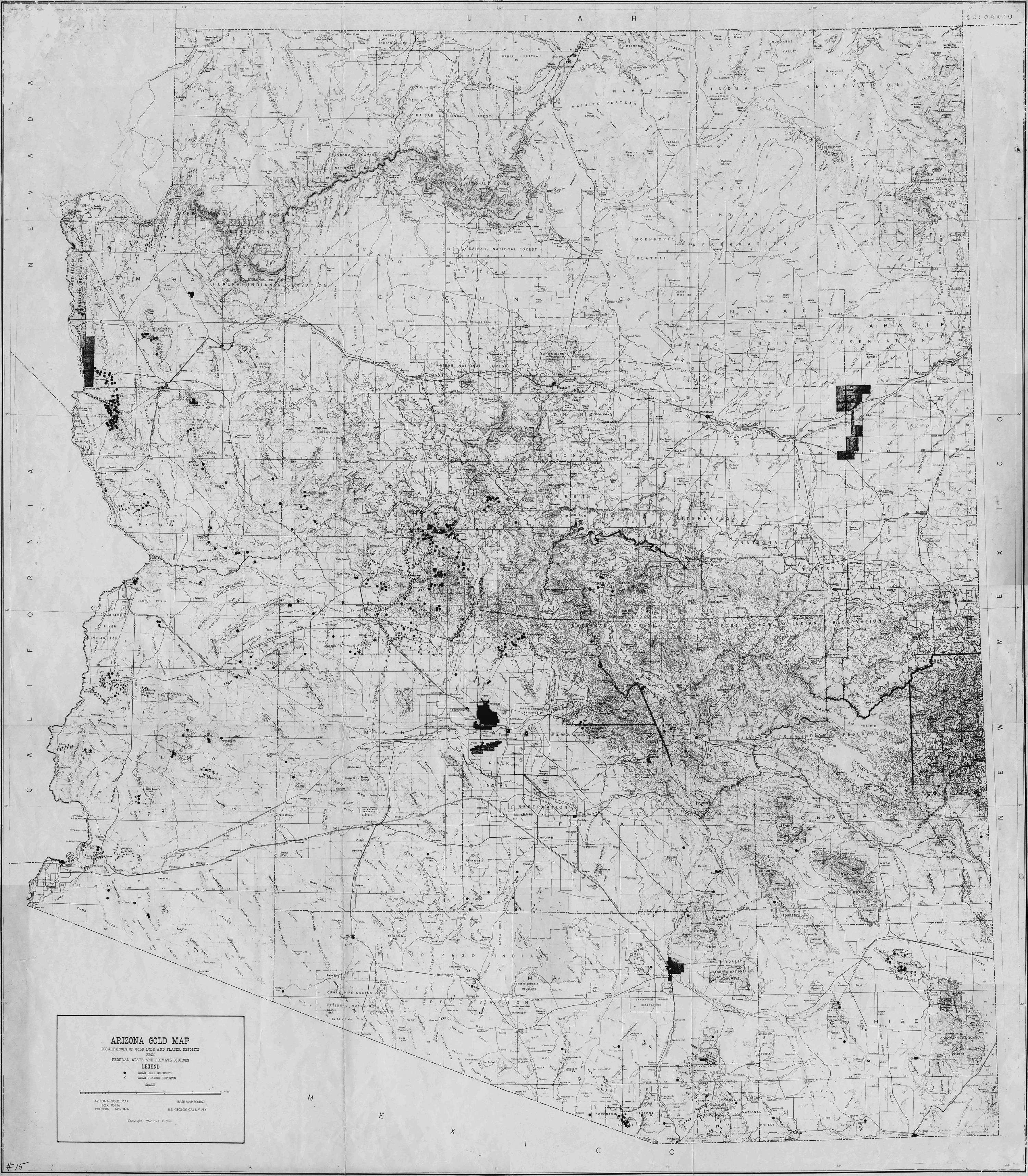 Arizona Gold Map
