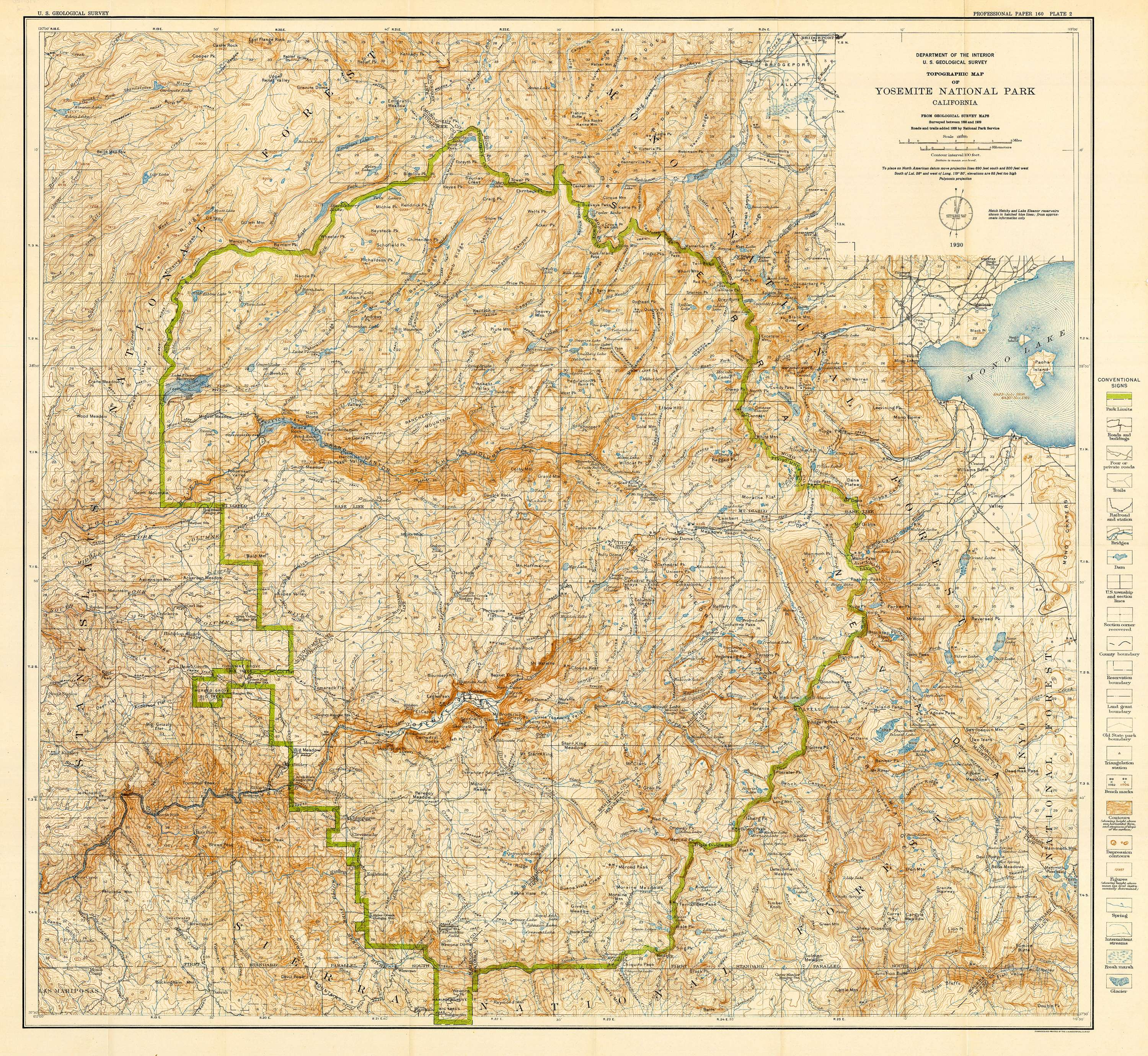 Geologic history of the Yosemite Valley