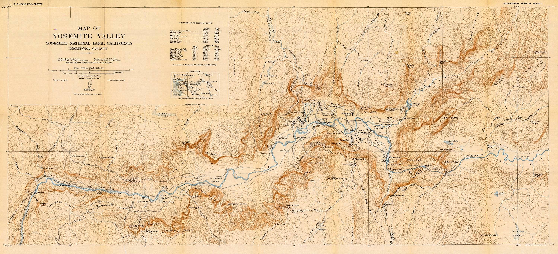 Geologic history of the Yosemite Valley