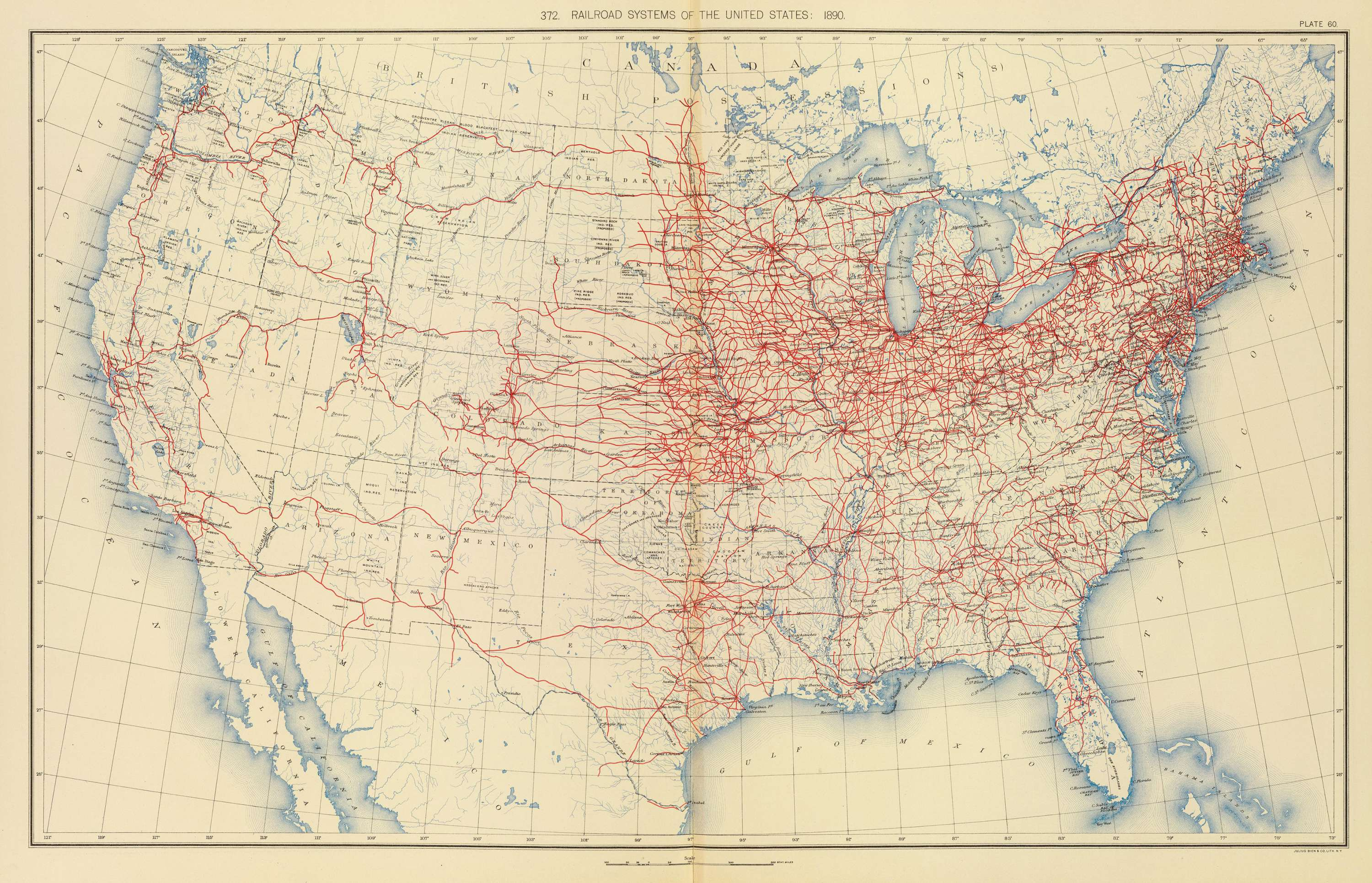 Railroad systems 1890