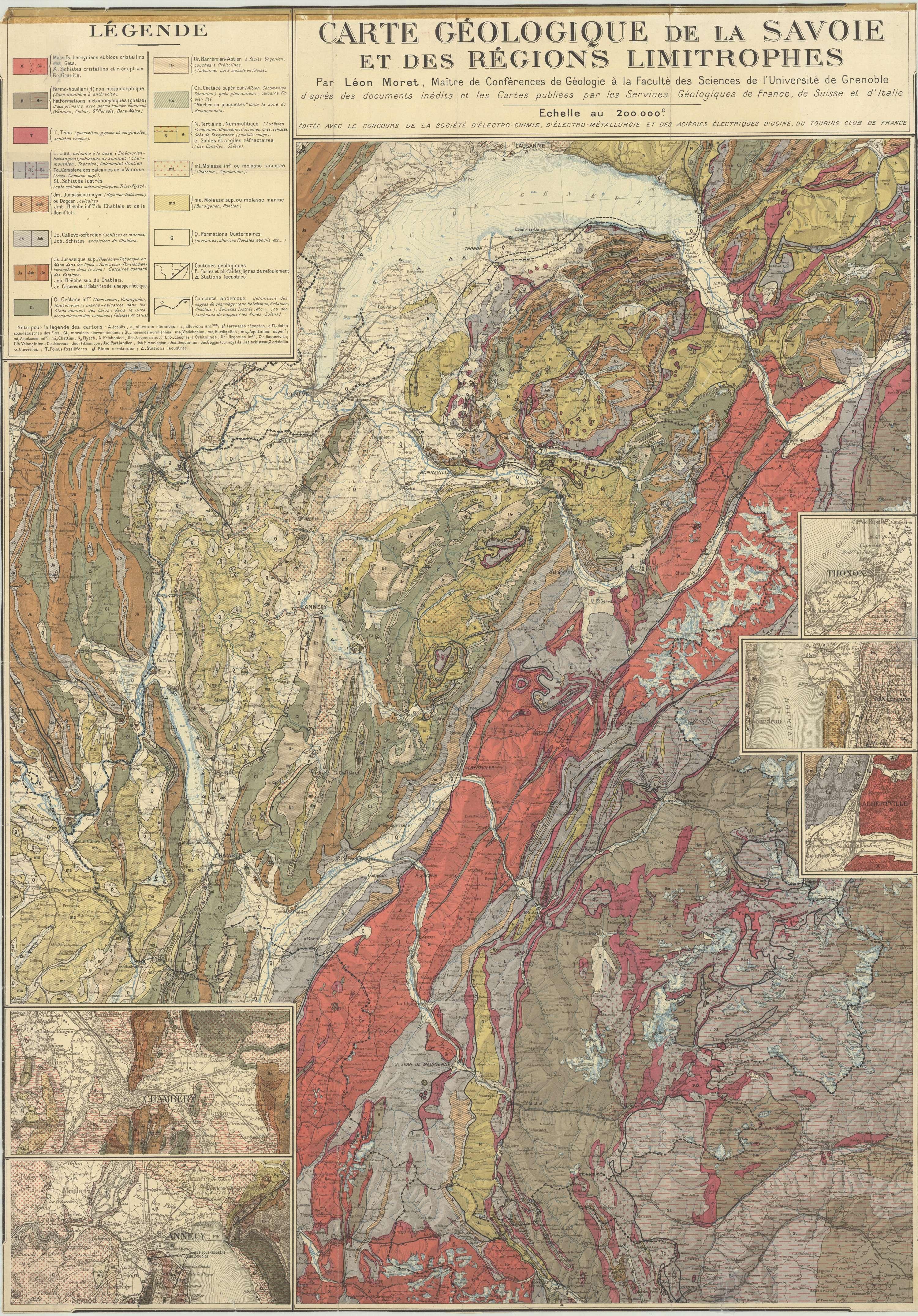 Géologie Massif du Mont Blanc