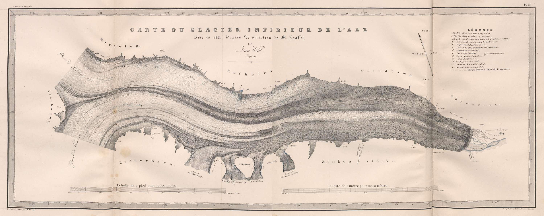 Carte du Glacier inférieur de l'Aar