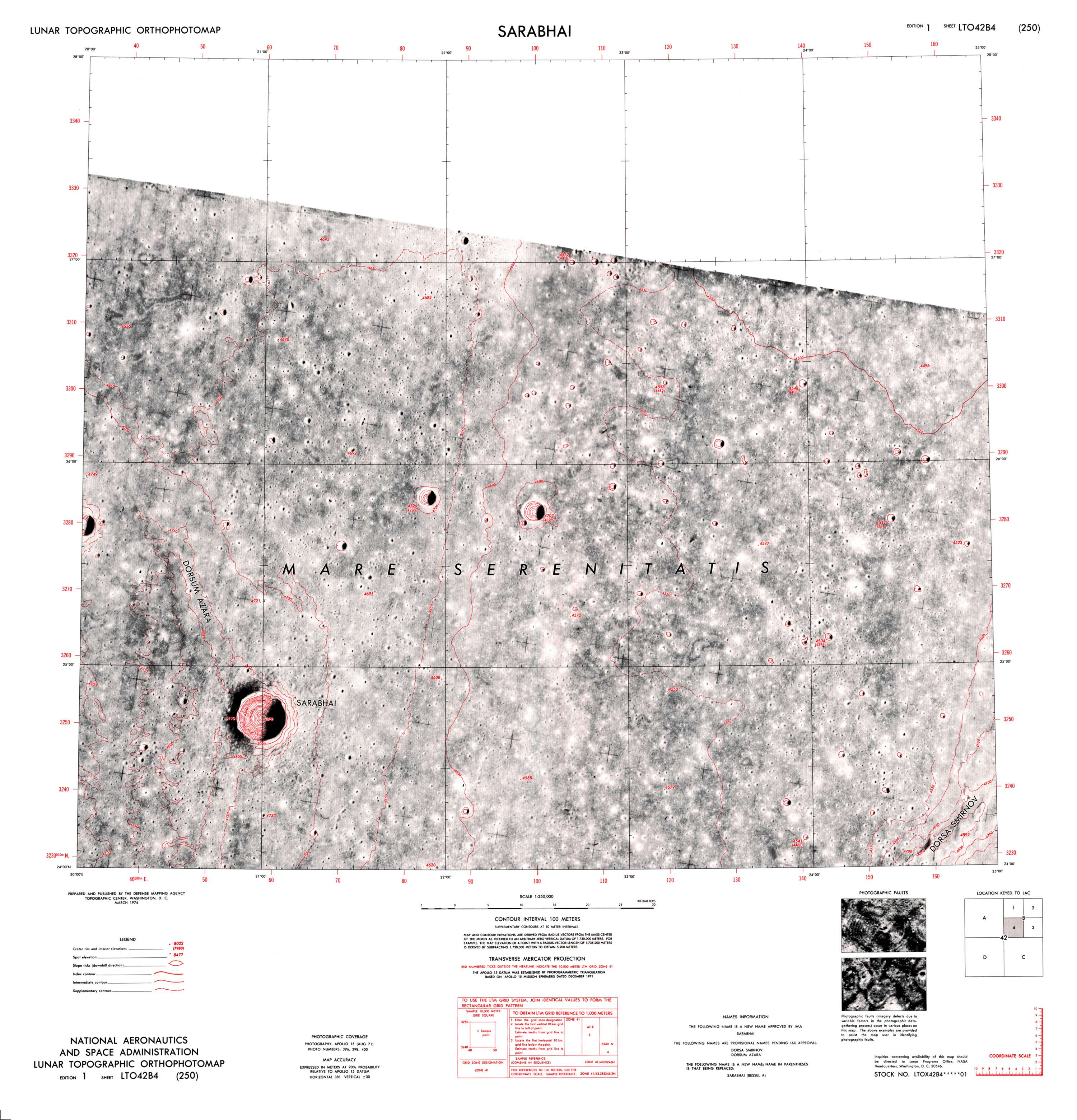 Lunar Topographic Orthophotomap