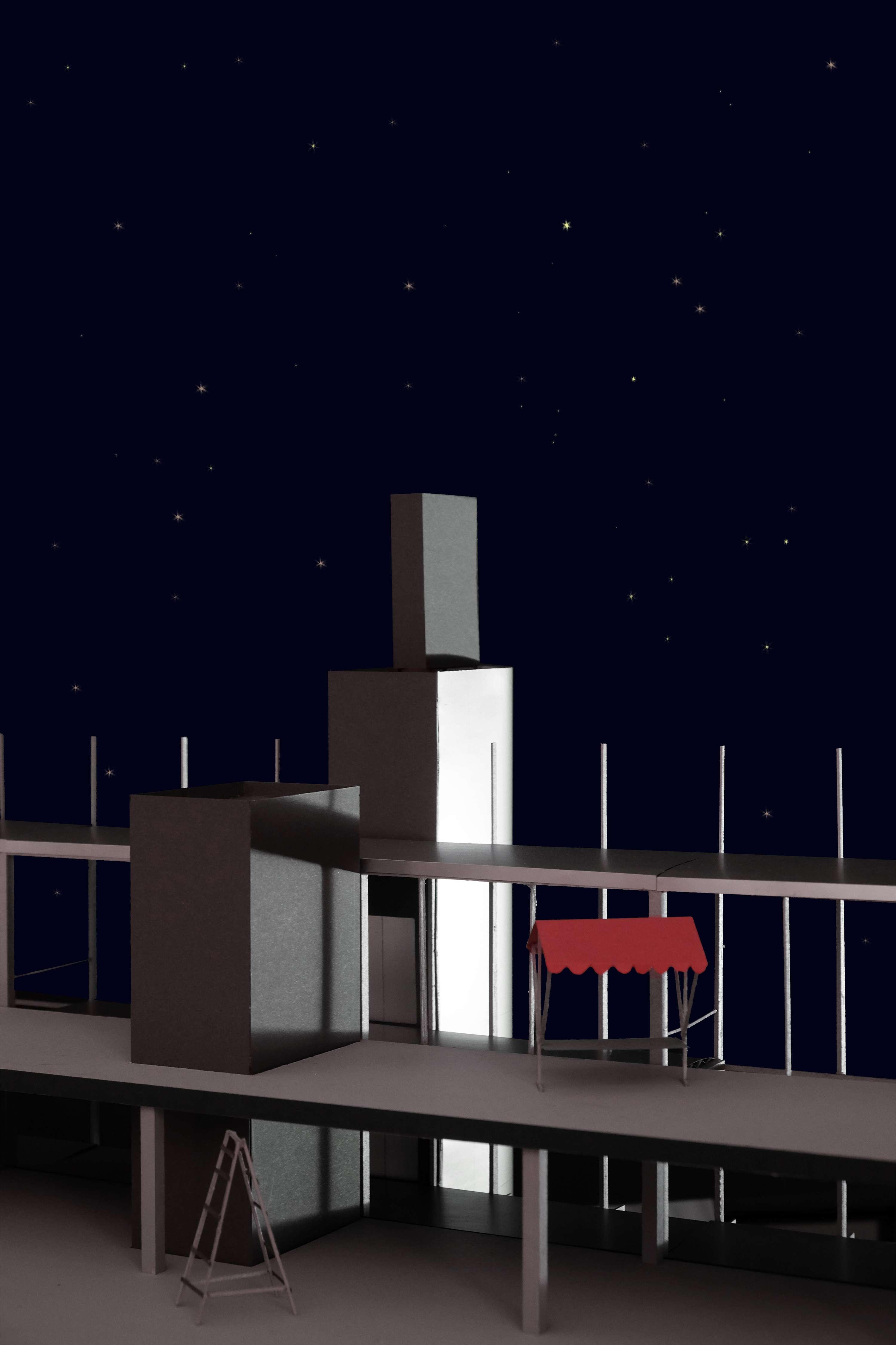 Ein Wohnhaus an den Gleisen