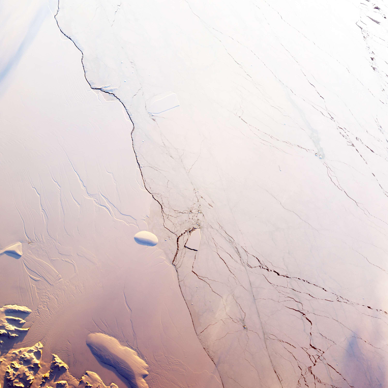 Crack Advances Across Antarctic Ice Shelf