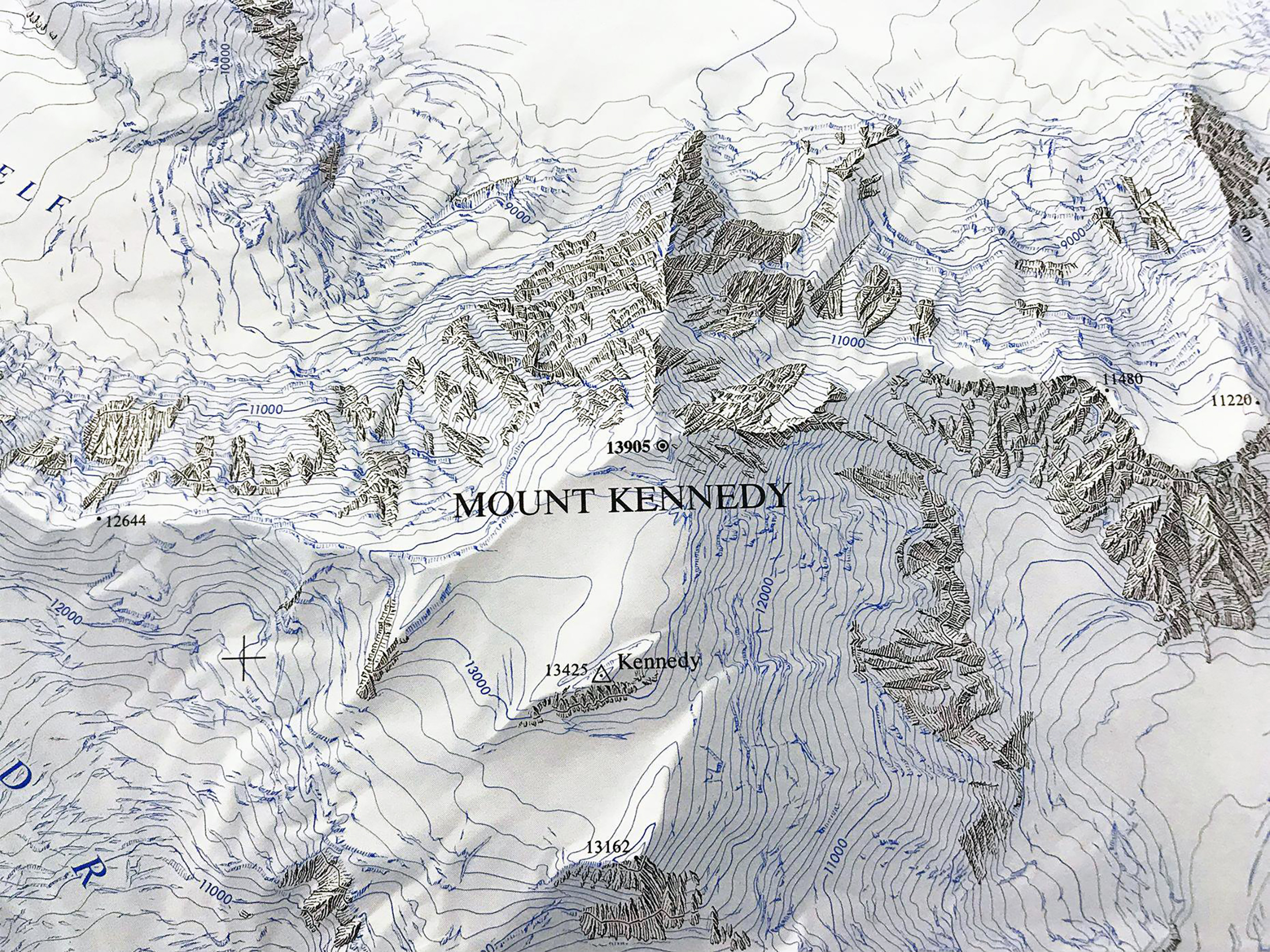 The Massif of Mt. Hubbard, Mt. Alverstone, and Mt. Kennedy