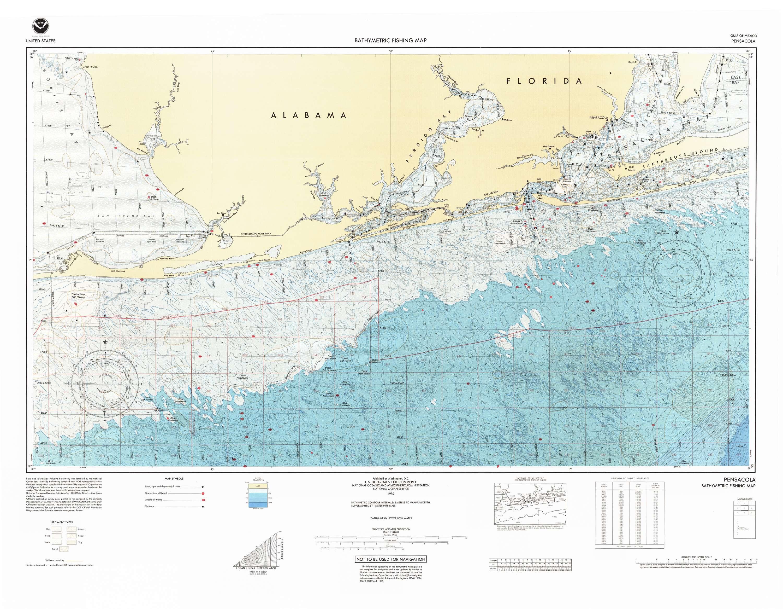 Bathymetric Fishing Maps
