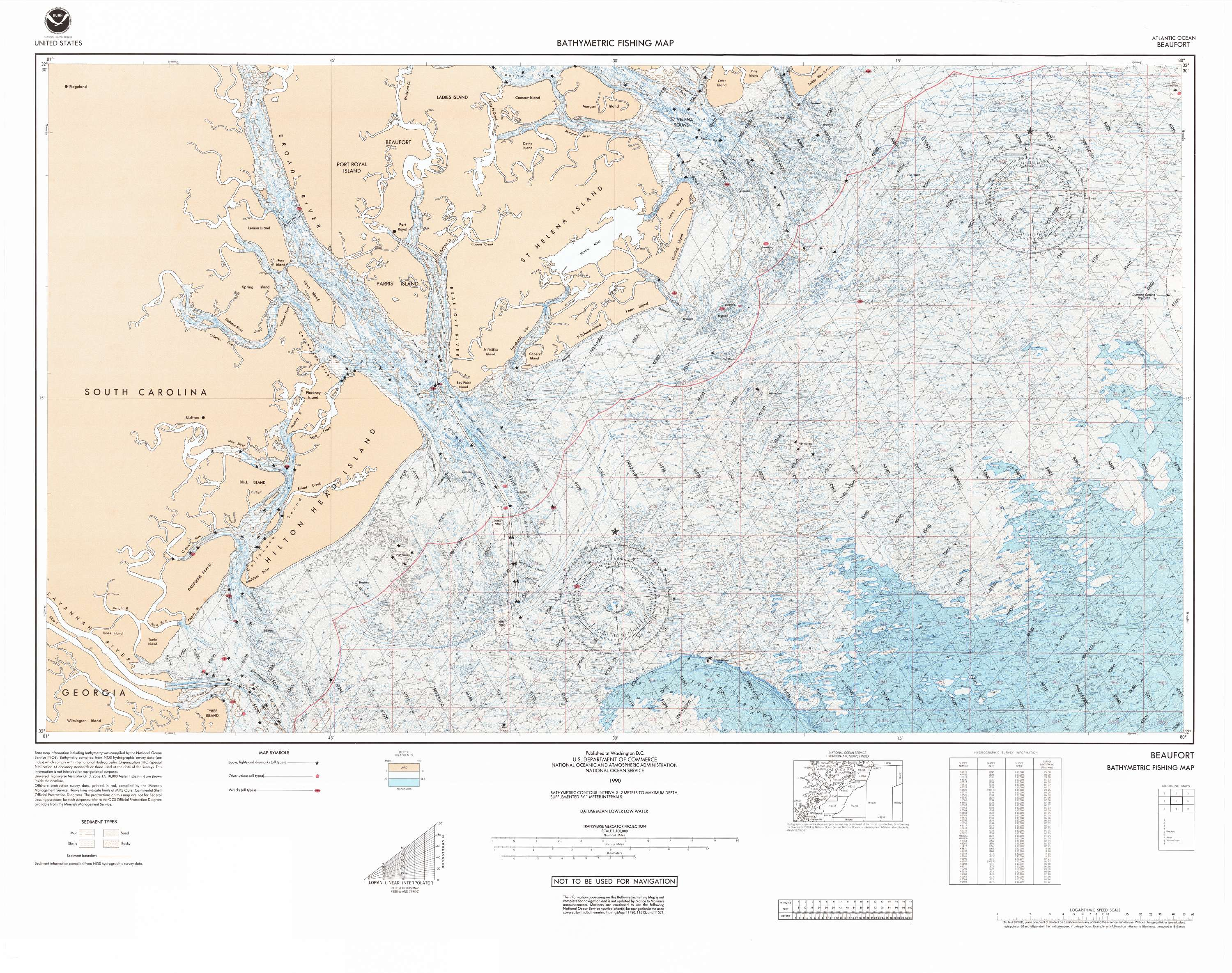 Bathymetric Fishing Maps