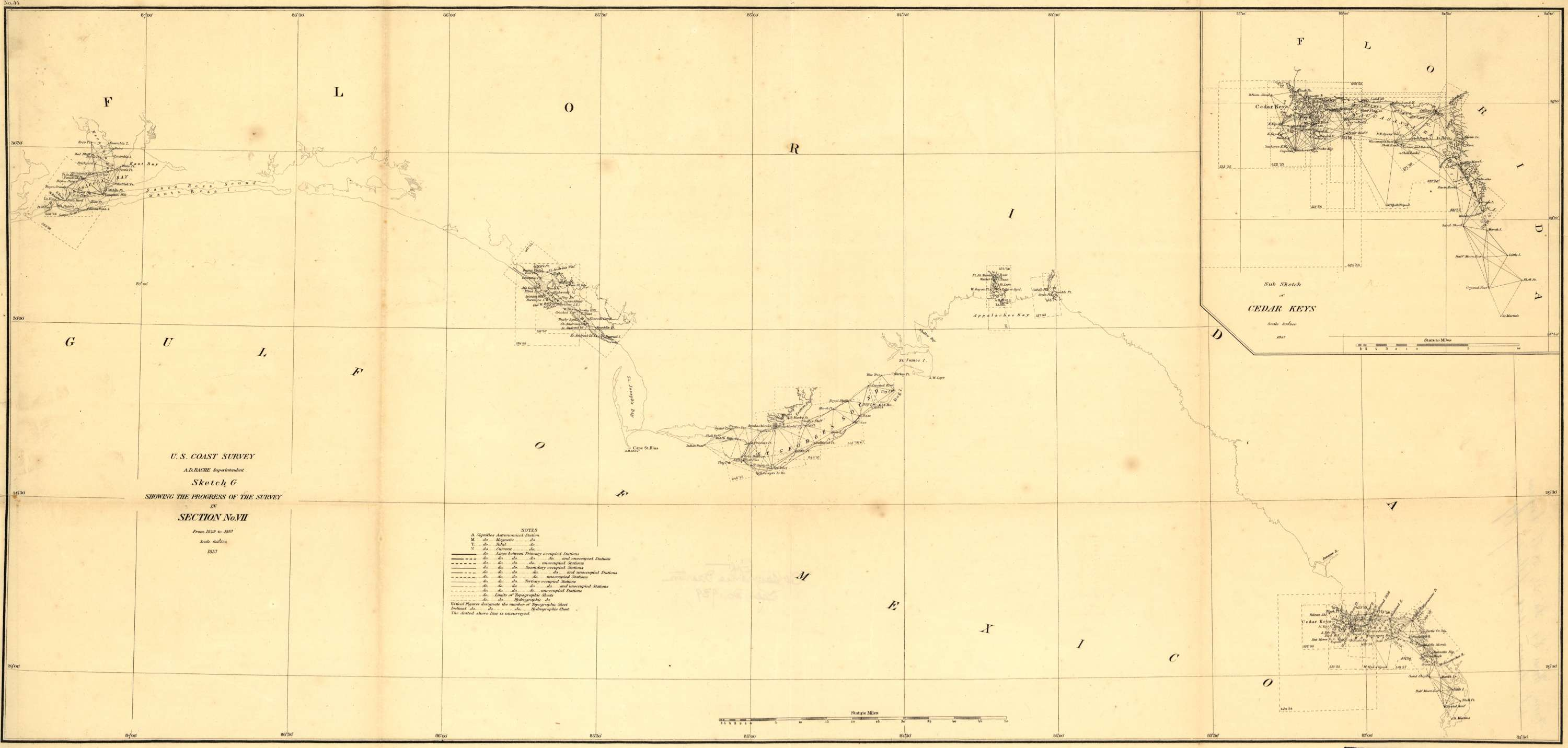 Preliminary chart of the Gulf of Mexico