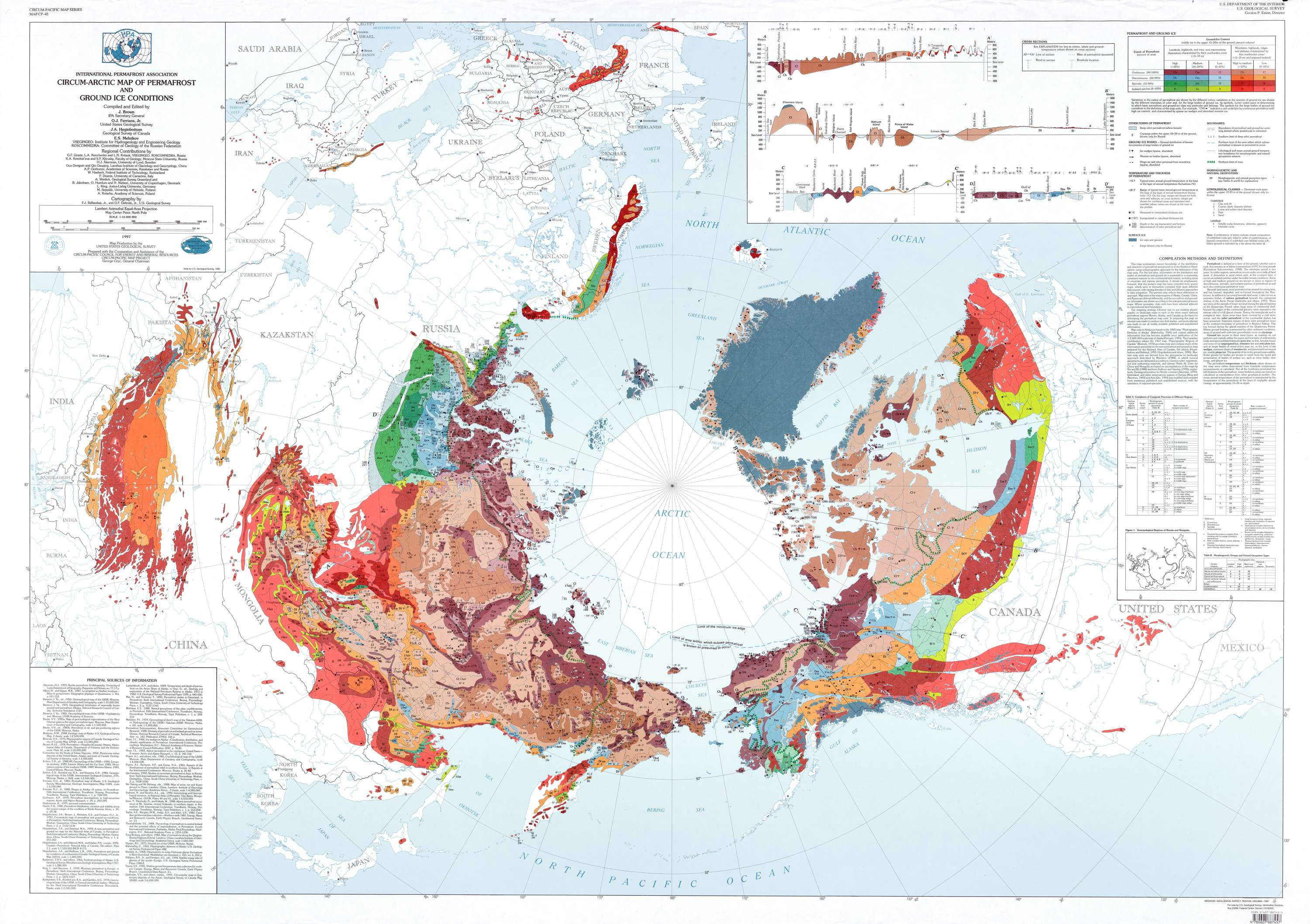 Circum-Arctic Map of Permafrost