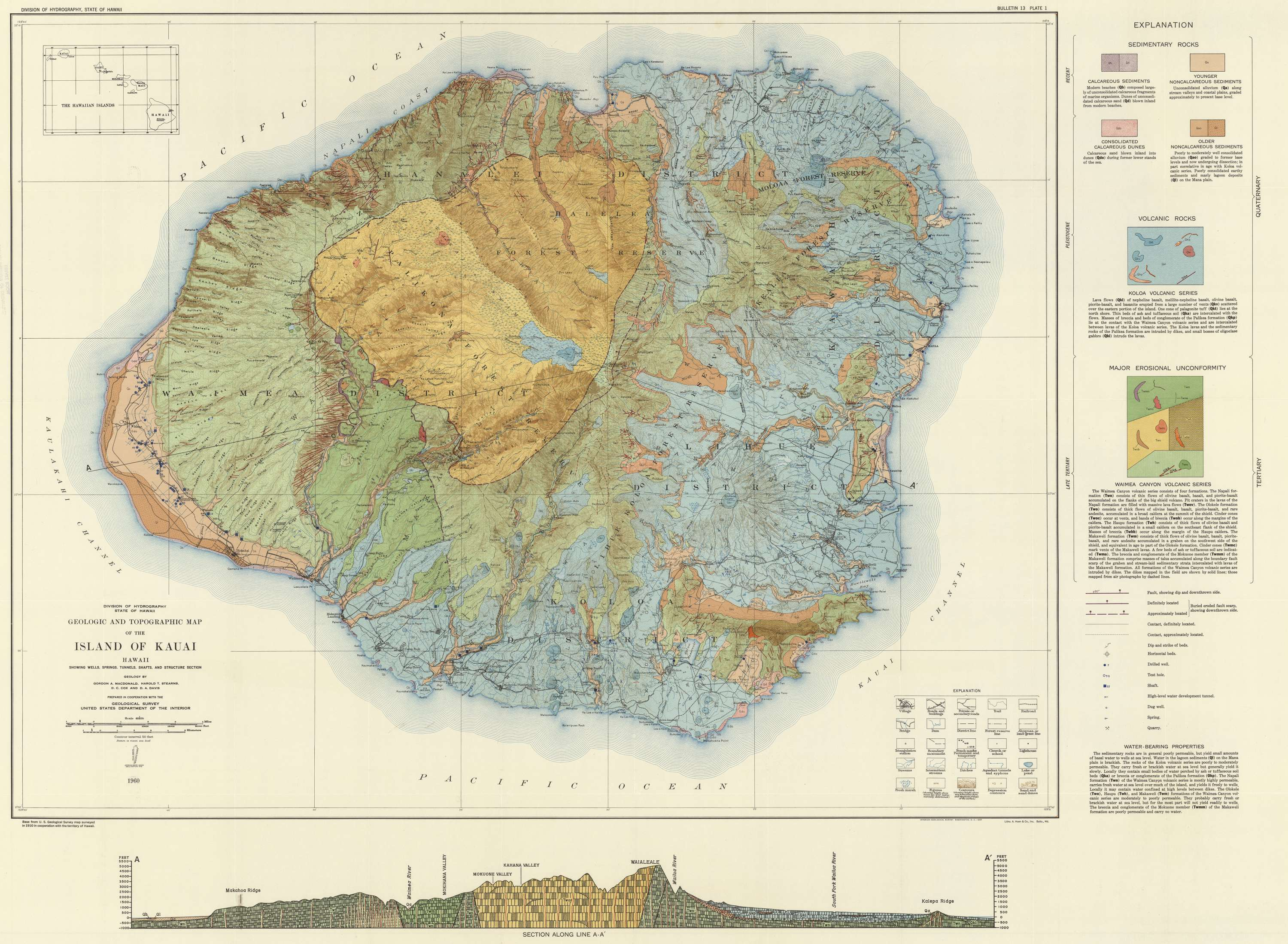 Geologic and Topographic Map