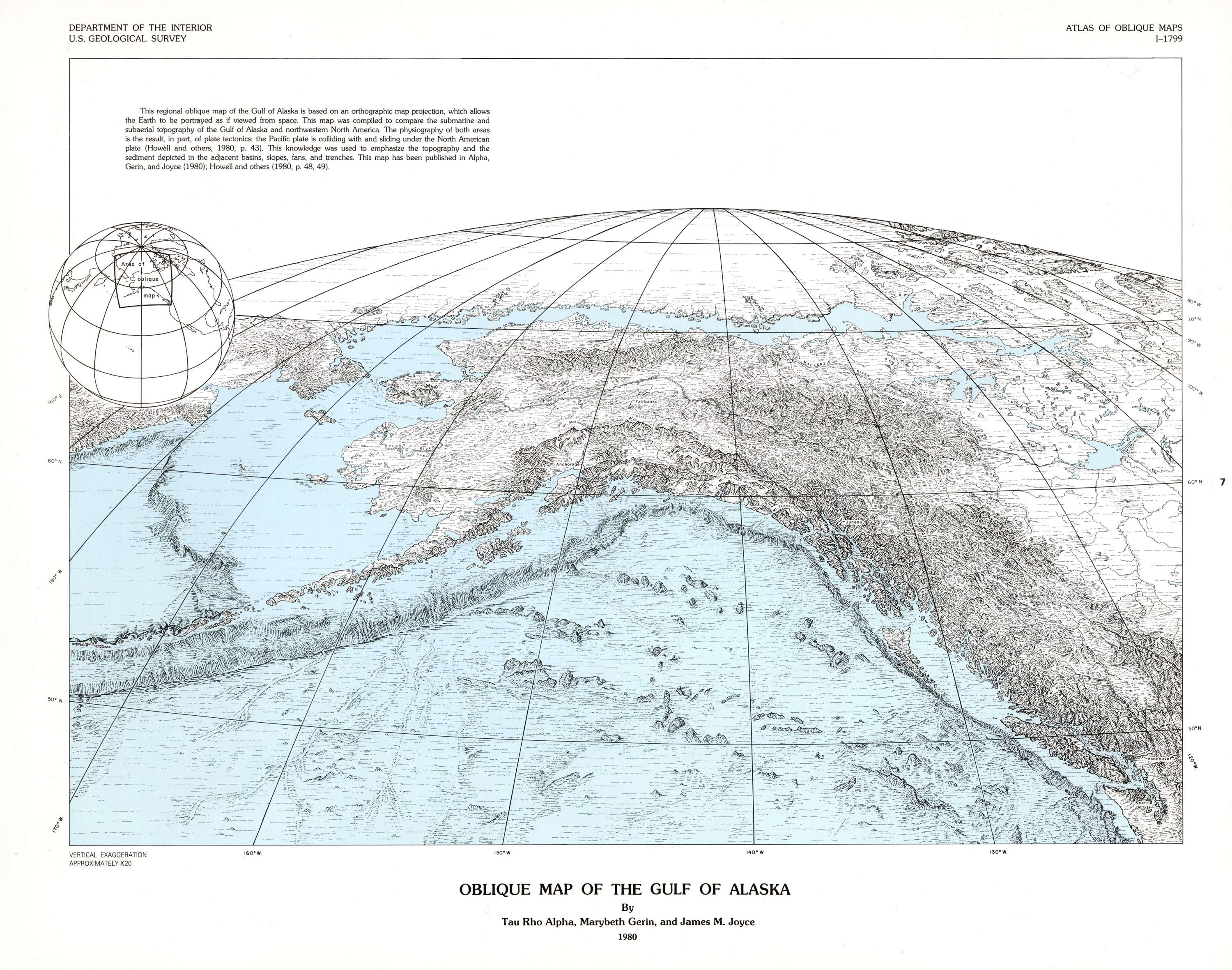 Oblique Maps of the North Pacific Ocean