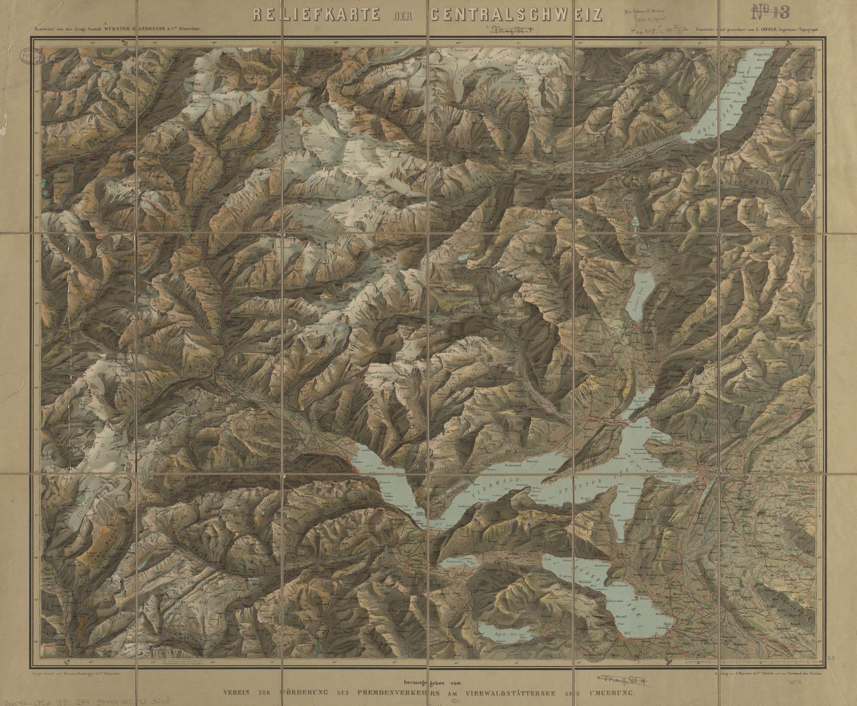 Reliefkarte der Centralschweiz